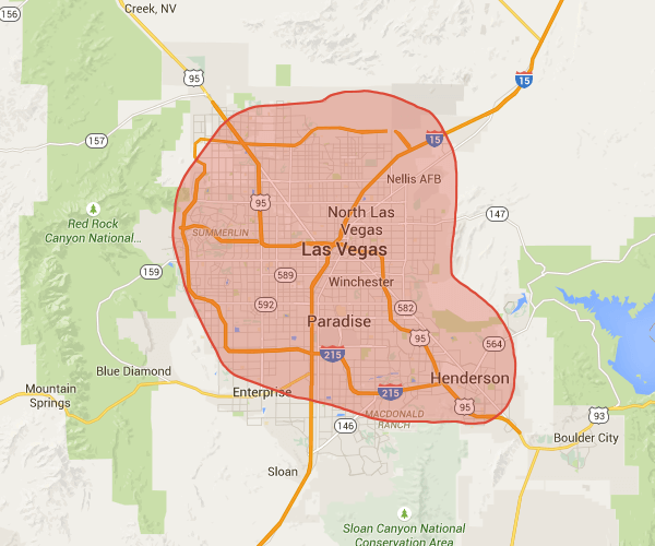 Our cleaning service areas in Las Vegas